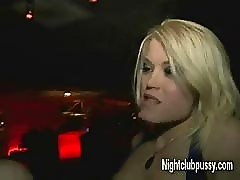 Club whores public sex show