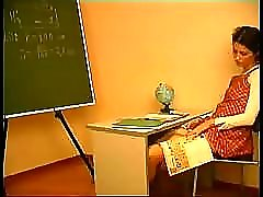 Old teacher simply could not watch schoolgirl masturbating a
