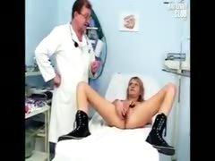 Doctor Toys with Patient's Pussy