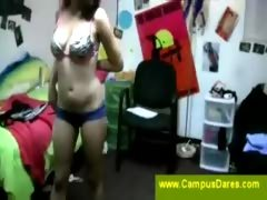 College Girl Caught Changing by Hidden Camera