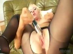 Pantyhose Girl Doing Solo
