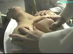 Unconscious office lady getting her tits rubbed pussy licked