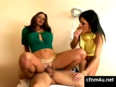 Two Sisters Go for a Threesome