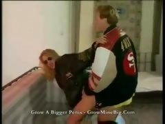 Rider Dude Gives His Blonde Girlfriend a Good Banging