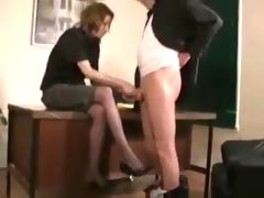 Teacher Gives Principal a Nice Handjob