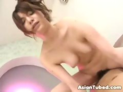 Sweet but Hairy Japanese Girl Fucked Hardcore