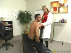 Sick Patient Gets Sex Therapy From a Blonde Doctor
