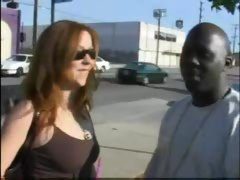 Redhead Pickup Girl Goes for a Fat Black Dude