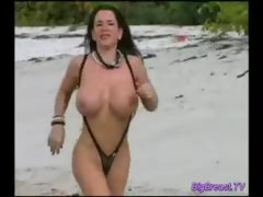 Big Tits Lady in the Wild