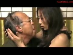 Sexy Asian Getting Her Pussy Licked By Her Old Husband