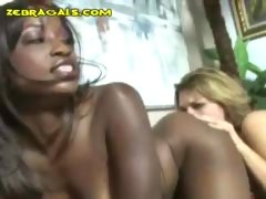 Blondie likes to lick a girl's black ass