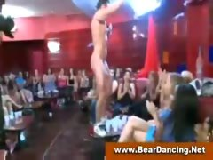 Bachelorette at a strippers party