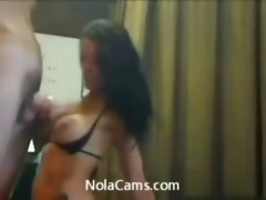 Hot amateur teen webcam blowjob