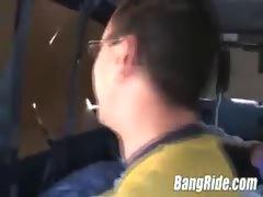 Girl fucked hard in van