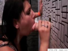 Hot woman blowjob dildo