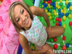 Young Kara's first dick sucking lesson!.